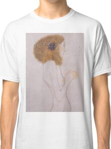 Gustav Klimt - Beethoven Frieze, Detal, The Suffering Of The Poor People, 1902 Classic T-Shirt