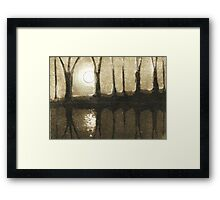 Just the Moon and I Framed Print