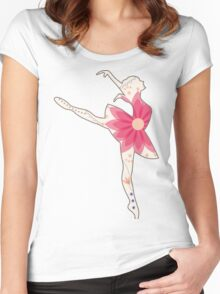 Vintage ballet dancer Women's Fitted Scoop T-Shirt