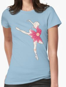 Vintage ballet dancer Womens Fitted T-Shirt