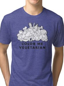 Color Me Vegetarian Tri-blend T-Shirt