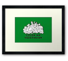 Color Me Vegetarian Framed Print