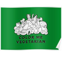 Color Me Vegetarian Poster