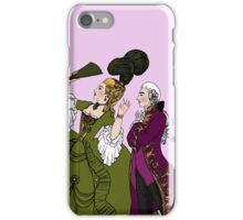 Amazed Rococo couple iPhone Case/Skin