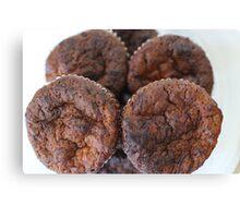 homemade chocolate muffins Canvas Print