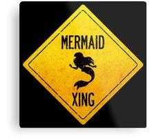 Mermaid Crossing Metal Print