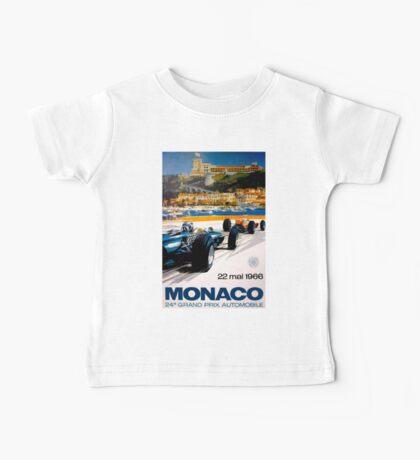 MONACO GRAND PRIX; Vintage Auto Racing Print Baby Tee