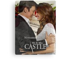Caskett Wedding Canvas Print