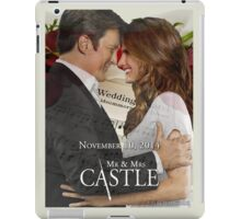 Caskett Wedding iPad Case/Skin