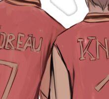 Jeremy Knox Jean Moreau in Trojan jackets Sticker