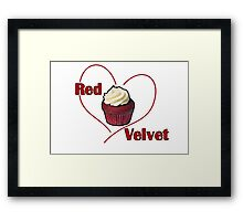Red Velvet Cupcake Framed Print