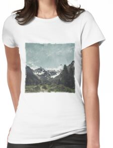 High Valley  Italian Alps Womens Fitted T-Shirt