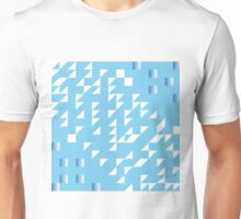 blue slide with gradient abstract background Unisex T-Shirt