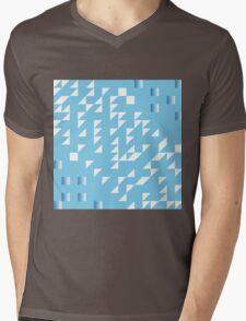blue slide with gradient abstract background Mens V-Neck T-Shirt