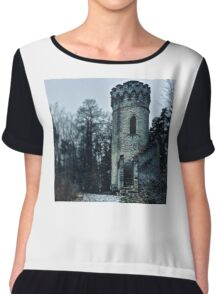 Mystical Tower Ded Chiffon Top