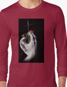 Powerful Rodin Art In The Cemetery Long Sleeve T-Shirt