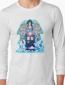 The angel has a phone box Long Sleeve T-Shirt