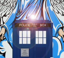 The angel has a phone box Sticker