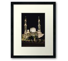 Jumeirah Mosque at Night Framed Print
