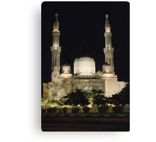 Jumeirah Mosque at Night Canvas Print