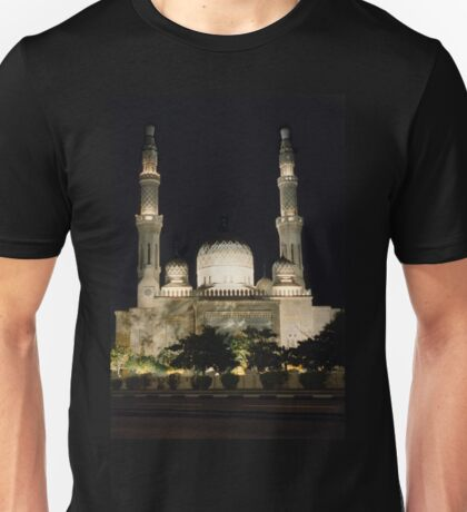 Jumeirah Mosque at Night Unisex T-Shirt