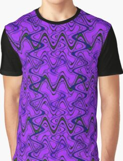 Purple Black Squiggle Pattern Graphic T-Shirt