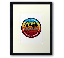 Sunset Beach Party Framed Print