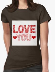 Love YOU in Heart-Letters T-Shirt