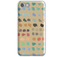 Cool Spectrum Paint Splodges on Khaki Beige Hand Painted Watercolors iPhone Case/Skin