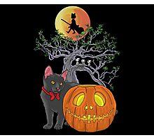 Cat Halloween Photographic Print
