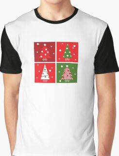 Christmas Trees design blocks icons : red and green Graphic T-Shirt