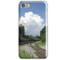 Clouds over Tracks iPhone Case/Skin