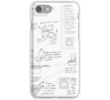 Receta de magdalenas  iPhone Case/Skin