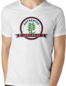 Authentic Vegetarian Mens V-Neck T-Shirt