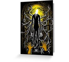 Slender Man 02 Greeting Card