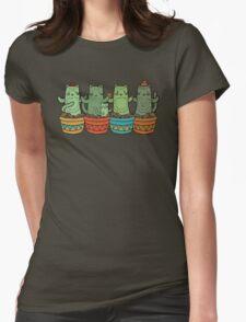 Catcus Garden Womens Fitted T-Shirt