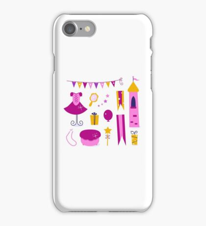 Vector collection of design elements for Princess Party iPhone Case/Skin