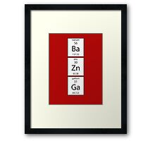 BA ZN GA Chemistry Periodic Table Of Elements T Shirt Framed Print