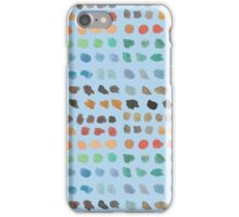 Cool Spectrum Paint Splodges on Sky Blue Hand Painted Watercolors iPhone Case/Skin
