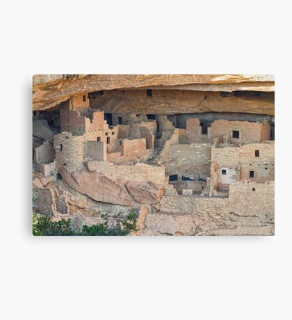 Cliff Homes  Canvas Print