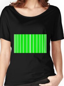 Thick To Thin White - Green Lines Women's Relaxed Fit T-Shirt