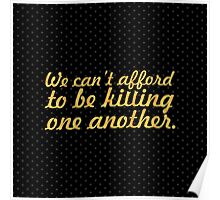 """We can't afford... """"Nelson Mandela"""" Inspirational Quote (Square) Poster"""