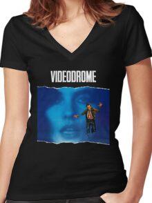 videodrome Women's Fitted V-Neck T-Shirt