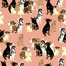 Puppy Party in Pink by VieiraGirl