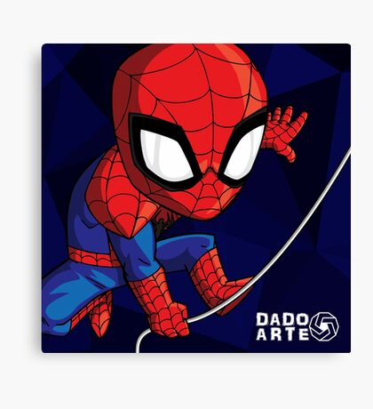 Spiderman Chibi Canvas Print