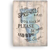 If You Sprinkle... Canvas Print
