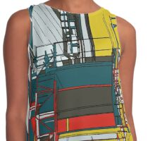 London construction doodle Contrast Tank