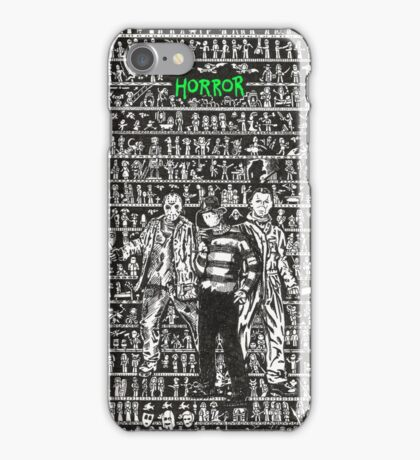 HORROR - Films and Monsters iPhone Case/Skin