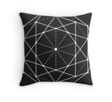 Geometric Iris Throw Pillow