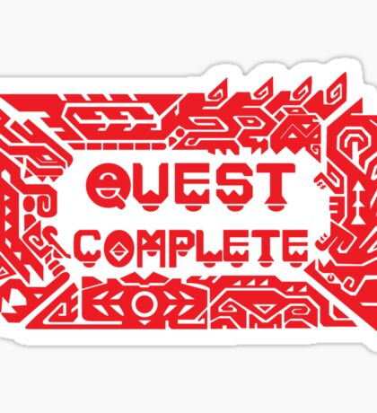 Monster Hunter Quest Complete Sticker
